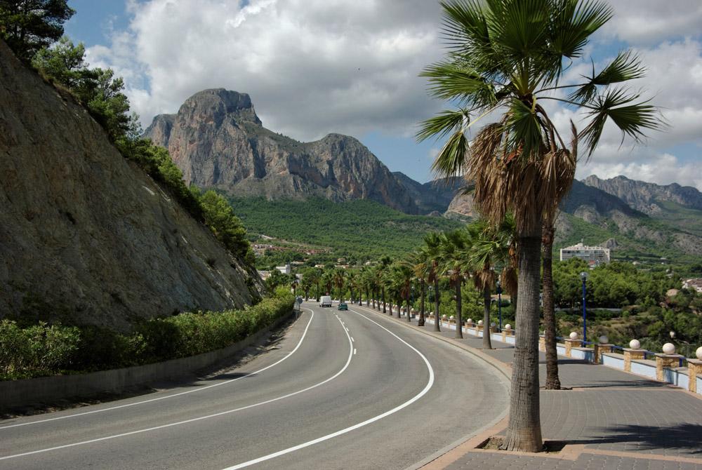 Дорога в горы Бенидорм