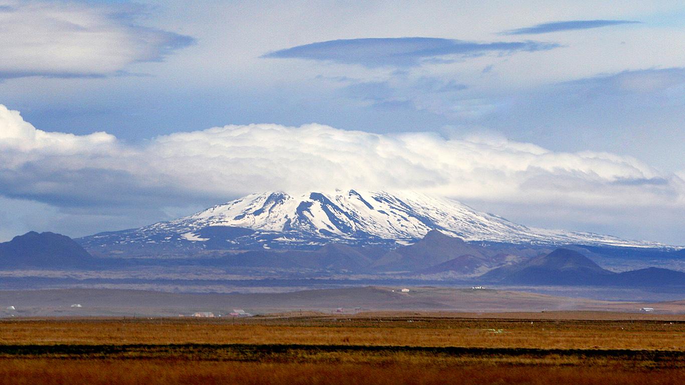 Потухший вулкан, Исландия