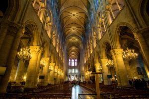 Собор Парижской Богоматери внутри до пожара