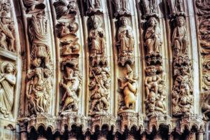 Фреска в соборе Парижской Богоматери до пожара